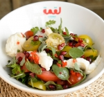 Logma Khaleeji Emirati Cuisine Food Dubai Pomegranate Mozzarella